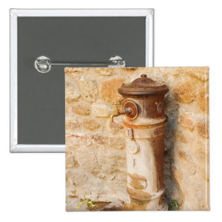 Close-up of a faucet, Siena Province, Tuscany, 2 Inch Square Button