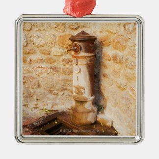 Close-up of a faucet, Siena Province, Tuscany, 2 Metal Ornament