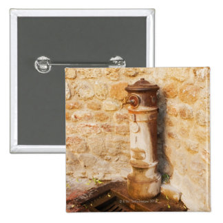 Close-up of a faucet, Siena Province, Tuscany, 2 Pinback Button