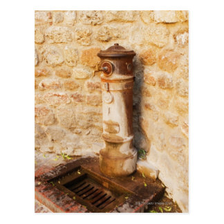 Close-up of a faucet, Siena Province, Tuscany, 2 Postcard