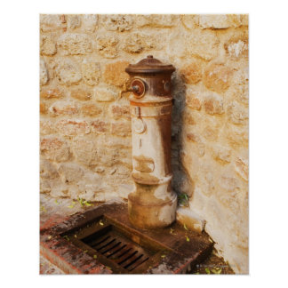 Close-up of a faucet, Siena Province, Tuscany, 2 Poster