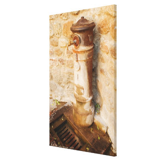 Close-up of a faucet, Siena Province, Tuscany, Canvas Print