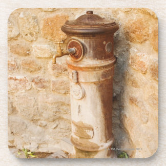 Close-up of a faucet, Siena Province, Tuscany, Drink Coaster