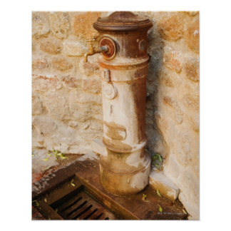 Close-up of a faucet, Siena Province, Tuscany, Poster