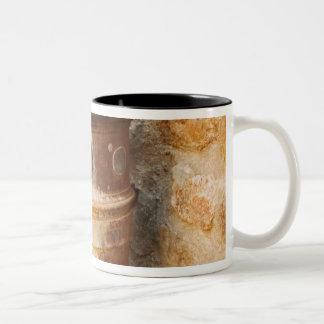 Close-up of a faucet, Siena Province, Tuscany, Two-Tone Coffee Mug