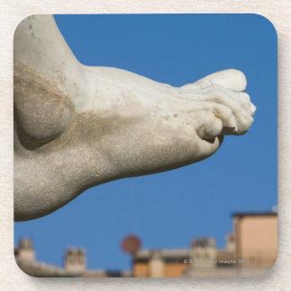 close-up of a foot on the Fontana dei Quatro Beverage Coaster