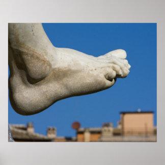 close-up of a foot on the Fontana dei Quatro Poster