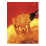 close-up of a forkful of pasta postcard