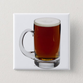 Close up of a glass of beer 3 button