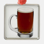 Close up of a glass of beer 3 ornament