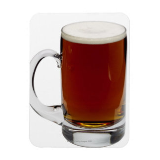 Close up of a glass of beer 3 rectangular photo magnet