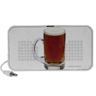 Close up of a glass of beer 3 travelling speaker