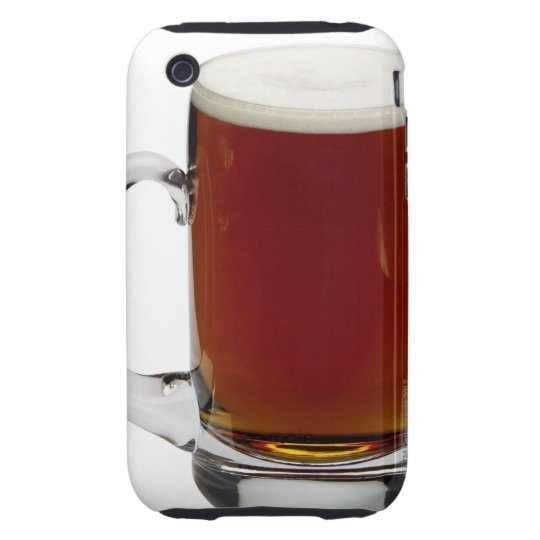 Close up of a glass of beer 3 tough iPhone 3 cover