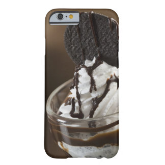 Close-up of a glass of chocolate sundae barely there iPhone 6 case