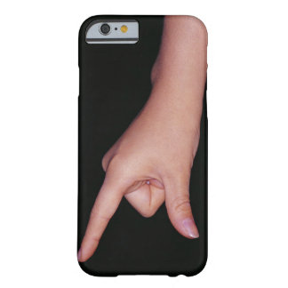 Close-up of a hand with finger and thumb barely there iPhone 6 case