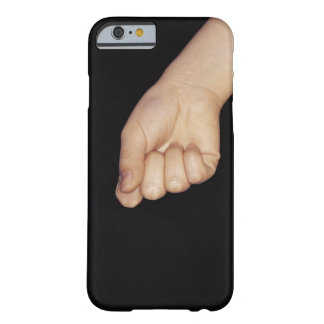 Close-up of a hand with fist clenched barely there iPhone 6 case