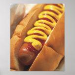 close-up of a hotdog poster