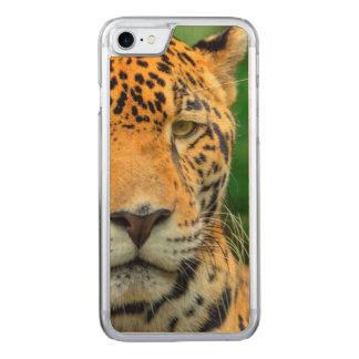 Close-up of a jaguar face, Belize Carved iPhone 8/7 Case