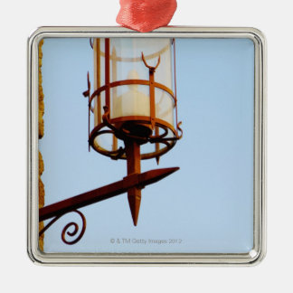 Close-up of a lantern, Siena Province, Tuscany, Square Metal Christmas Ornament