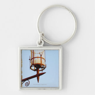 Close-up of a lantern, Siena Province, Tuscany, Silver-Colored Square Keychain
