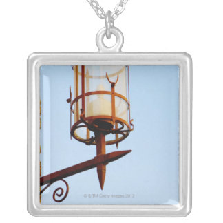 Close-up of a lantern, Siena Province, Tuscany, Square Pendant Necklace