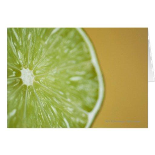 Close-up of a lemon slice greeting cards