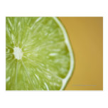 Close-up of a lemon slice postcard
