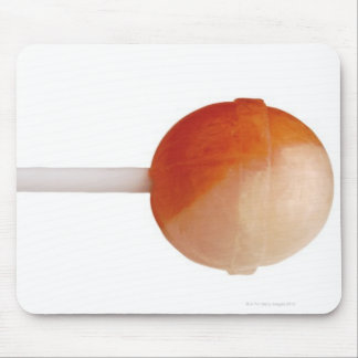 close-up of a lollipop mouse pad