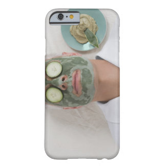 Close-up of a mature man lying down with a face barely there iPhone 6 case