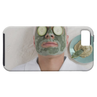 Close-up of a mature man lying down with a face iPhone 5 cases