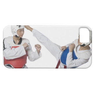Close-up of a mid adult man practicing iPhone 5 case
