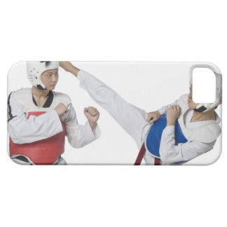Close-up of a mid adult man practicing iPhone 5 cases