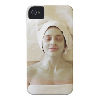 Close-up of a mid adult woman having a facial Case-Mate iPhone 4 case