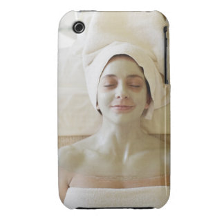 Close-up of a mid adult woman having a facial iPhone 3 Case-Mate case
