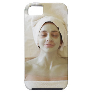 Close-up of a mid adult woman having a facial iPhone SE/5/5s case