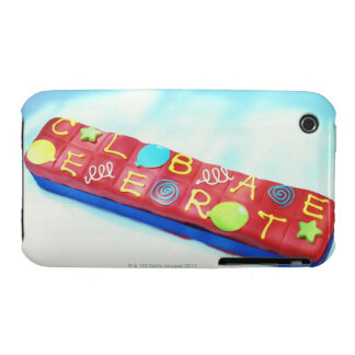 close-up of a pencil box shaped birthday cake iPhone 3 Case-Mate case