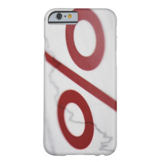 Close-up of a percentage sign on a line graph barely there iPhone 6 case