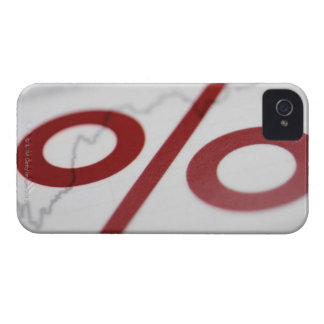 Close-up of a percentage sign on a line graph iPhone 4 Case-Mate case