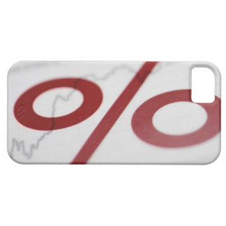 Close-up of a percentage sign on a line graph iPhone SE/5/5s case