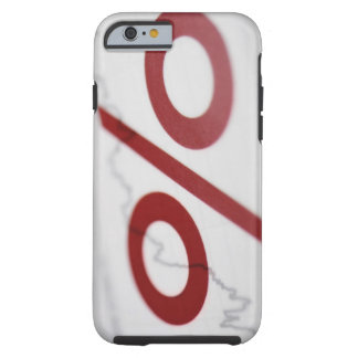 Close-up of a percentage sign on a line graph tough iPhone 6 case