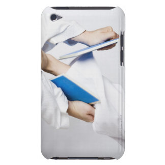 Close-up of a person's leg breaking a tile barely there iPod cover