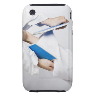Close-up of a person's leg breaking a tile tough iPhone 3 cases