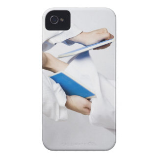 Close-up of a person's leg breaking a tile iPhone 4 case