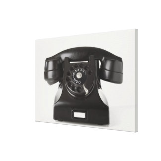 Close-up of a rotary phone canvas print