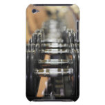 Close-up of a row of dumbbells iPod touch Case-Mate case