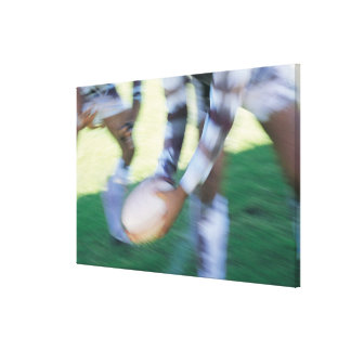 Close up of a Rugby Union Player Passing The Canvas Print