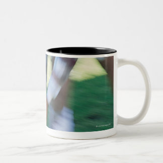 Close up of a Rugby Union Player Passing The Two-Tone Coffee Mug
