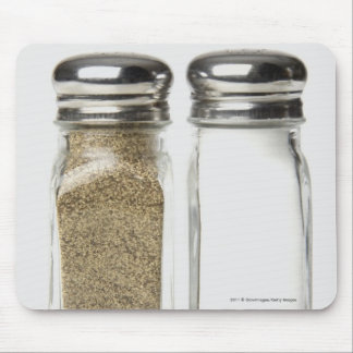 Close-up of a salt and a pepper shaker mouse pad
