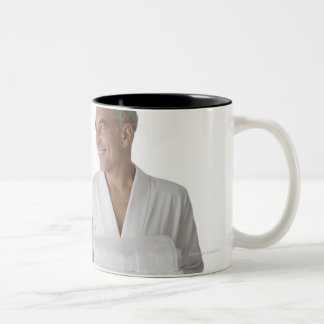 Close-up of a senior man with a mature woman Two-Tone coffee mug