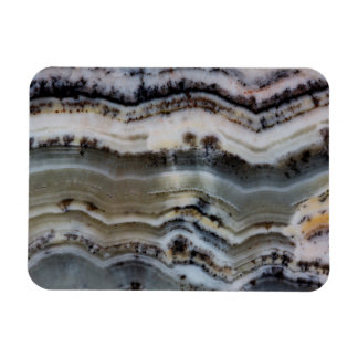 Close up of a Silver Lace Onyx Magnet